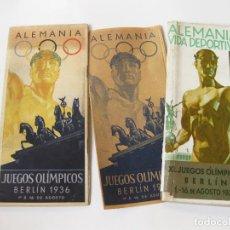 Collezionismo sportivo: FOLLETOS Y PROGRAMA GUIA EN ESPAÑOL DE LOS JUEGOS OLÍMPICOS DE BERLIN DE AGOSTO DE 1936. Lote 111247087