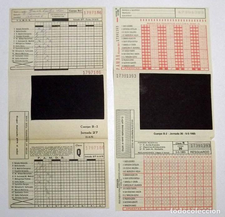 Coleccionismo deportivo: Quinielas 1973 y 1985 - Foto 2 - 111342155