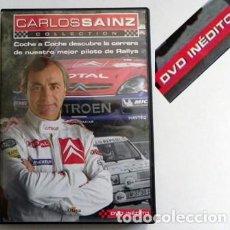 Coleccionismo deportivo: DVD CARLOS SAINZ COLLECTION (EN ESPAÑOL ) CAMPEÓN DE RALLY COCHES DEPORTE ENTREVISTA HISTORIA PILOTO. Lote 111507599