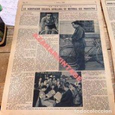 Coleccionismo deportivo: CICLISMO,2 HOJAS DE PERIODICO DE 1935, AGRUPACION CICLISTA SEVILLANA, RARA. Lote 111945883