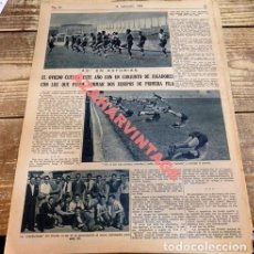 Coleccionismo deportivo: FUTBOL, 2 HOJAS DE PERIODICO, REAL OVIEDO. Lote 111946791