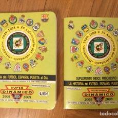 Coleccionismo deportivo: CALENDARIO DINÁMICO. LA HISTORIA DEL FÚTBOL ESPAÑOL : 1949-2008 (CON SUPLEMENTO). Lote 112661655