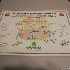Coleccionismo deportivo: 41. DIPLOMA D'ASSISTENCIA. 1991. BÁSQUET. FC BARCELONA POP 84 .. Lote 113296407