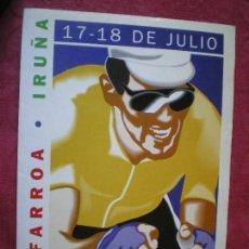 Coleccionismo deportivo: DOSSIER DE LAS DOS ETAPAS POR NAVARRA Y META EN PAMPLONA DEL TOUR 1996. MIGUEL INDURÁIN.. Lote 113334943