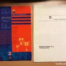 Coleccionismo deportivo: MEMORIAL ANUAL E INFORME ECONÓMICO FUTBOL CLUB BARCELONA 97/98. Lote 113538883