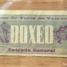 Coleccionismo deportivo: ENTRADA DE BOXEO - PLAZA TOROS VALENCIA - 1963. Lote 114625027