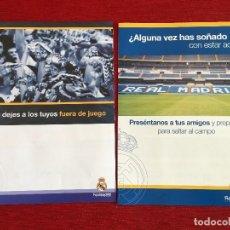 Coleccionismo deportivo: RP FANZINE DOCUMENTO PUBLICIDAD REAL MADRID CARNET MADRIDISTA ESTADIO SANTIAGO BERNABEU. Lote 115188419