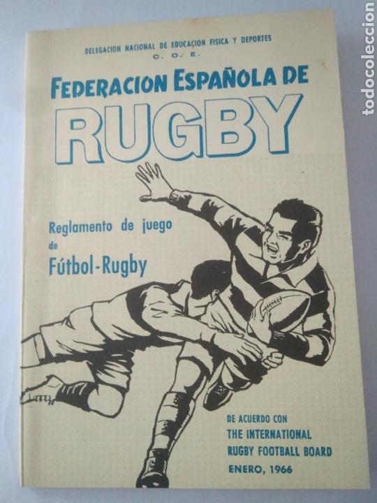 ANTIGUO REGLAMENTO DE JUEGO FEDERACION RUGBY-REGLAS Y NOTAS AÑOS 60 ENERO 1966 (Coleccionismo Deportivo - Documentos de Deportes - Otros)