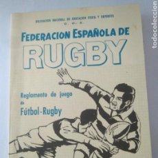 Coleccionismo deportivo: ANTIGUO REGLAMENTO DE JUEGO FEDERACION RUGBY-REGLAS Y NOTAS AÑOS 60 ENERO 1966. Lote 117374976