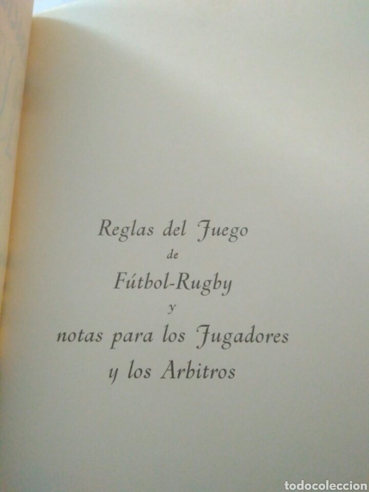 Coleccionismo deportivo: ANTIGUO REGLAMENTO DE JUEGO FEDERACION RUGBY-REGLAS Y NOTAS AÑOS 60 ENERO 1966 - Foto 2 - 117374976