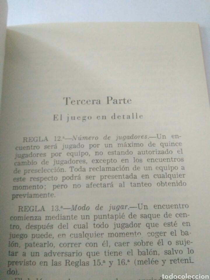 Coleccionismo deportivo: ANTIGUO REGLAMENTO DE JUEGO FEDERACION RUGBY-REGLAS Y NOTAS AÑOS 60 ENERO 1966 - Foto 3 - 117374976