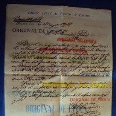 Coleccionismo deportivo: (F-180937)DOCUMENTO DEL COLEGIO DE ARBITROS DE BARCELONA 1918 A ENRIQUE PERIS DE VARGAS. Lote 117615643