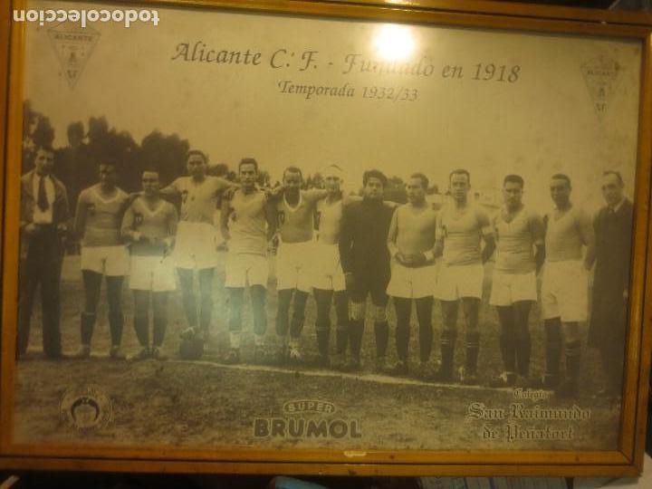 ALICANTE FUTBOL CLUB PLANTILLA ANTIGUO FOTO CONMEMORATIVO PUBLICITARIO BRUMOL (Coleccionismo Deportivo - Documentos de Deportes - Otros)