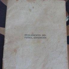 Coleccionismo deportivo: REGLAMENTO DE FÚTBOL ASOCIACIÓN . Lote 118053023