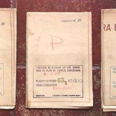 Coleccionismo deportivo: FUTBOL FC BARCELONA TESORO HISTORICO PROYECTO ORIGINAL ARQUITECTO MITJANS CAMP NOU 1955 MUSEO (3. Lote 118801802