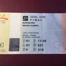 Colecionismo desportivo: ENTRADA: FINAL DE ATLETISMO.(BARCELONA 1992).. Lote 120215024