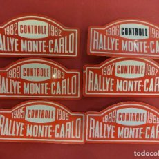 Coleccionismo deportivo: RALLYE MONTE-CARLO. LOTE CHAPAS O DISTINTIVOS CONTROLE. AÑOS 1980S. MIDEN 8 CTMS. Lote 120399899