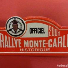 Coleccionismo deportivo: RALLYE MONTE-CARLO. CHAPAS O DISTINTIVO OFICIAL DE CARRERA. AÑO 2001. MIDE 8 CTMS. Lote 120413535