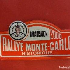 Coleccionismo deportivo: RALLYE MONTE-CARLO. CHAPA O DISTINTIVO ORGANIZACION DE CARRERA. AÑO 2000. MIDE 8 CTMS. Lote 120413607