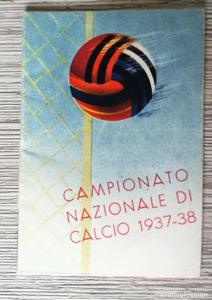 Como Calcio Calendario.Antiguo Y Precioso Calendario De Futbol Italiano Calcio Campionato 1937 1938 Publicidad Ferrania