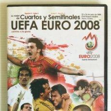 Coleccionismo deportivo: DVD LO MEJOR DE CUARTOS Y SEMIFINALES UEFA EURO 2008 AS. Lote 121519187