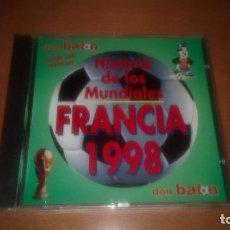 Coleccionismo deportivo: HISTORIA DE LOS MUNDIALES DE FUTBOL FRANCIA 1998 CD-ROM. Lote 122150015