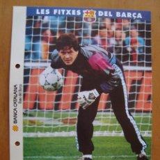 Coleccionismo deportivo: LES FITXES DEL BARCA ; BUSQUETS. Lote 151814056