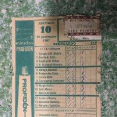 Coleccionismo deportivo: RESGUARDO DE QUINIELA DE FUTBOL DE LA LIGA AÑO 1967/1968 JORNADA 10. Lote 122370739