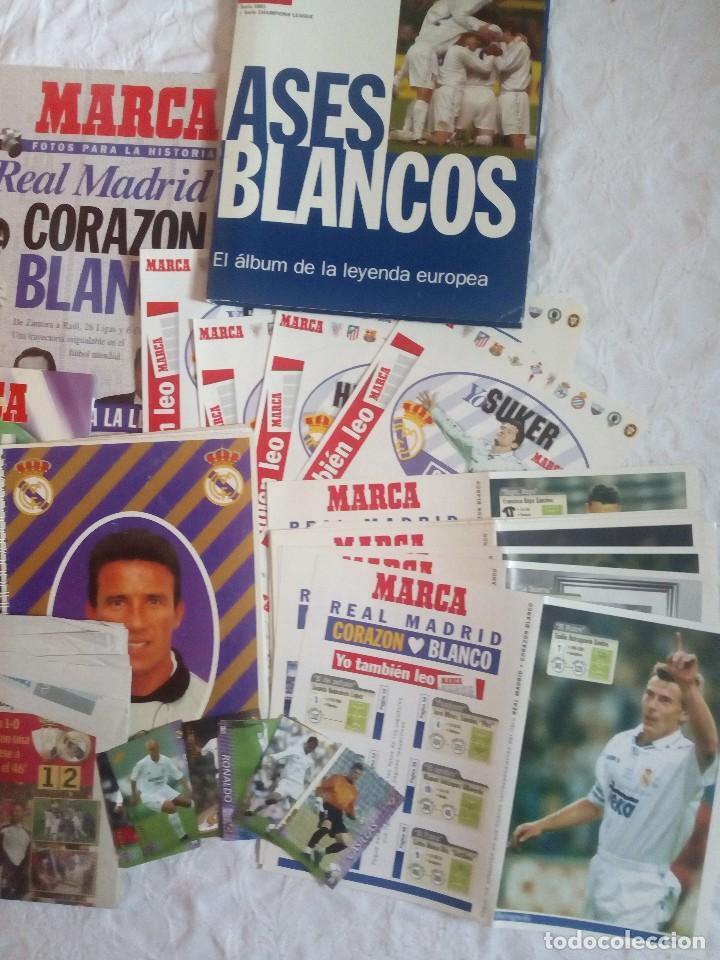 Coleccionismo deportivo: Lote variado real madrid. Futbol.la liga.at madrid.marca.as.7 champions.buyo. - Foto 3 - 122538067