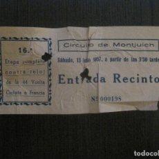 Coleccionismo deportivo: ENTRADA ETAPA CONTRARELOJ VUELTA A FRANCIA -CIRCUITO MONTJUICH-BARCELONA -VER FOTOS-(V-14.722). Lote 122792039
