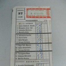 Coleccionismo deportivo: RESGUARDO DE QUINIELA DE FÚTBOL AÑO 1969 - JORNADA 39. Lote 123292459