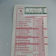 Coleccionismo deportivo: RESGUARDO DE QUINIELA DE FÚTBOL AÑO 1969 - JORNADA 3. Lote 123292483