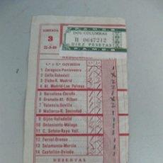 Coleccionismo deportivo: RESGUARDO DE QUINIELA DE FÚTBOL AÑO 1969 - JORNADA 3. Lote 123292559