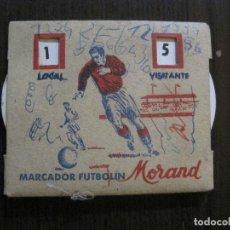 Coleccionismo deportivo: MARCADOR FUTBOLIN - MORAND - RUEDAS GIRATORIAS -VER FOTOS-(V-14.836) . Lote 124455183