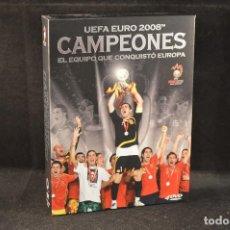 Coleccionismo deportivo: UEFA EURO 2008 - CAMPEONES - EL EQUIPO QUE CONQUISTO EUROPA - DVD. Lote 124528583