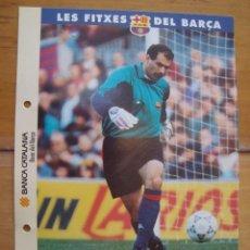 Coleccionismo deportivo: LES FITXES DEL BARCA ; ZUBIZARRETA. Lote 151814110