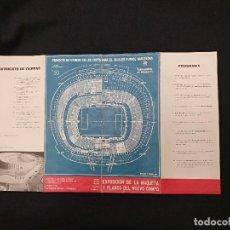 Coleccionismo deportivo: PROYECTO DE ESTADIO EN LAS CORTS PARA EL C.F. BARCELONA - OCTUBRE 1954. Lote 126025383