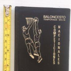 Coleccionismo deportivo: FUNDA PORTA DOCUMENTOS / LICENCIA / CARNET - FEB FEDERACIÓN ESPAÑOLA DE BALONCESTO - 1973 - 74. Lote 126045834