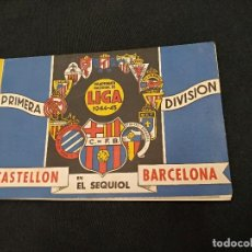 Coleccionismo deportivo: BOLETIN POST-PARTIDO - CASTELLON - C.F. BARCELONA - TEMPORADA 1944 1945. Lote 126268011
