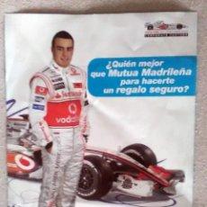 Coleccionismo deportivo: FERNANDO ALONSO. PEQUEÑO CARTEL PUBLICIDAD. Lote 126300259