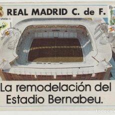 Coleccionismo deportivo: REAL MADRID- PROPAGANDA TRIPTICO DE LA REMODELACION DEL ESTADIO FUTBOL SANTIAGO BERNABEU- AÑO 1980 . Lote 126670563
