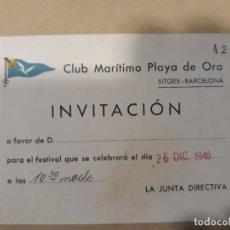 Coleccionismo deportivo: CLUB MARITIMO PLAYA DE ORO. SITGES . BARCELONA. Lote 126812819