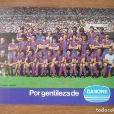 Coleccionismo deportivo: LOTERIA NACIONAL FUNCIONARIS FOTO PLANTILLA BARCELONA 1979 1980 - 17 X 11,5 CMS BARÇA FUTBOL 79 80. Lote 127152499