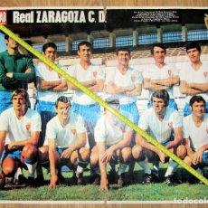Coleccionismo deportivo: POSTER REVISTA LA ACTUALIDAD REAL ZARAGOZA LOS MAGNIFICOS. Lote 128718391