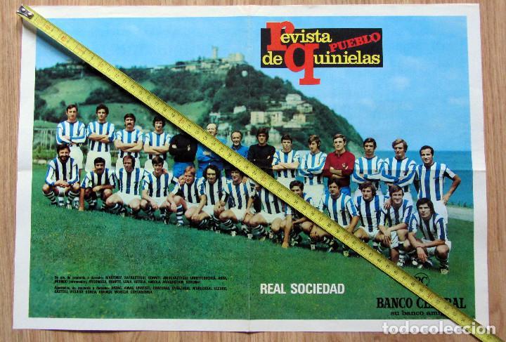 POSTER REVISTA PUEBLO DE QUINIELAS REAL SOCIEDAD ARCONADA (Coleccionismo Deportivo - Documentos de Deportes - Otros)