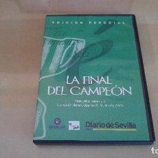 Coleccionismo deportivo: DVD REAL BETIS 2 OSASUNA 1 (FINAL COPA DEL REY 2005) - PARTIDO COMPLETO Y PRÓRROGA. Lote 128811739