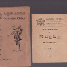 Coleccionismo deportivo: RUGBY / FUTBOL-RUGBY - REGLAMENTO - ESCUELA CENTRAL DE EDUCACION FISICA . Lote 130540742