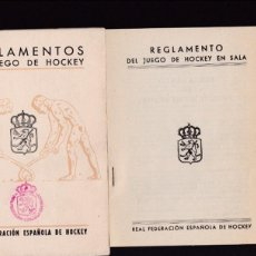Coleccionismo deportivo: HOCKEY - REGLAS OFICIALES DE JUEGO - REAL FEDERACION ESPAÑOLA DE HOCKEY 1952. Lote 130541498