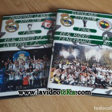 Coleccionismo deportivo: FINAL CHAMPIONS REAL MADRID - LIVERPOOL + FINAL EUROLIGA REAL MADRID - FENERBAHCE (DVD). Lote 156053934