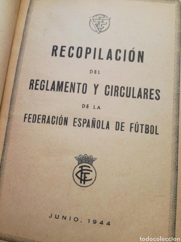 REGLAMENTO 1944 FEDERACIÓN ESPAÑOLA FÚTBOL (Coleccionismo Deportivo - Documentos de Deportes - Otros)